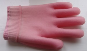Gel hand glove inside